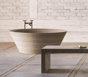 Siena Tazza Bathtub Siena Silver Gray Marble Product Image