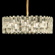 With A Dark Backing and Stunning Mosaic of Clear Crystals and Stainless Steel In Chrome, This Chandelier Is Perfect for Smaller Spaces, Intimate Settings, and as A Dazzling Accent.