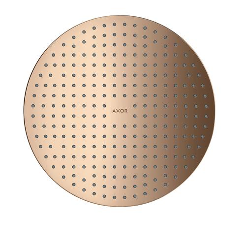 Polished Red Gold Overhead shower 300 2jet ceiling