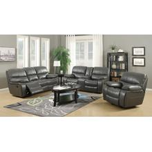 Banner Gray Leather Gel Sofa and Loveseat Set
