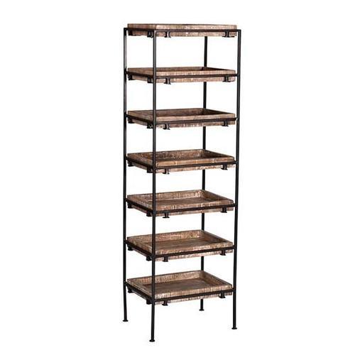 Progressive Furniture - Storage Shelf - Natural/Iron Finish