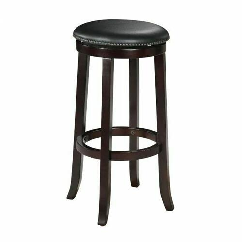 "ACME Chelsea Bar Stool w/Swivel (Set-2) - 04733 - PU & Espresso - 29"" Seat Height"