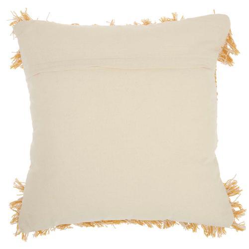 "Life Styles Dl825 Mustard 20"" X 20"" Throw Pillow"