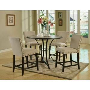 Acme Furniture Inc - ACME Byton Counter Height Table - 71935 - Antique Light Oak & Black