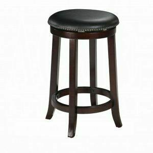"ACME Chelsea Counter Height Stool w/Swivel (Set-2) - 04732 - PU & Espresso - 24"" Seat Height"