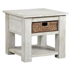End Table - White Wash Finish