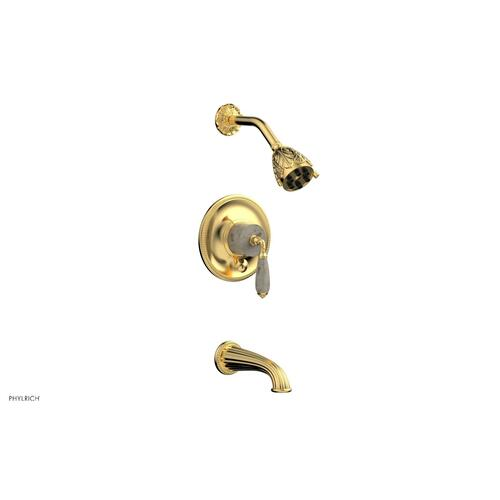 VALENCIA Pressure Balance Tub and Shower Set PB2338D - Satin Gold