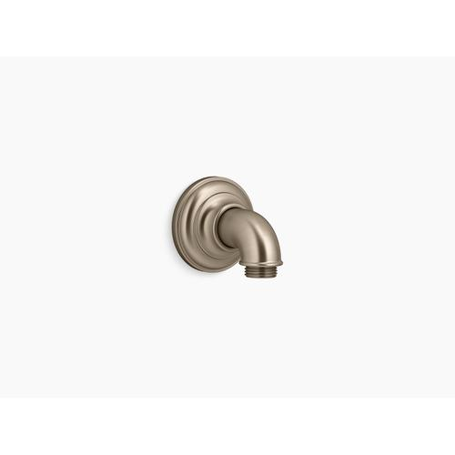 Vibrant Brushed Bronze Wall-mount Supply Elbow