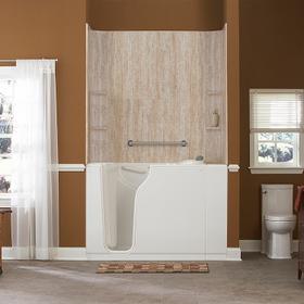 Gelcoat Premium Series 30x52-inch Walk-In Bathtub Combination  American Standard - White