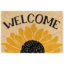 See Details - Doormat Welcome Sunflower Gold/Black 24x36