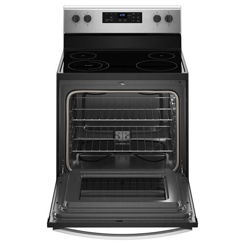 Product Image - 5.3 cu. ft. Freestanding Electric Range with Adjustable Self-Cleaning Stainless Steel