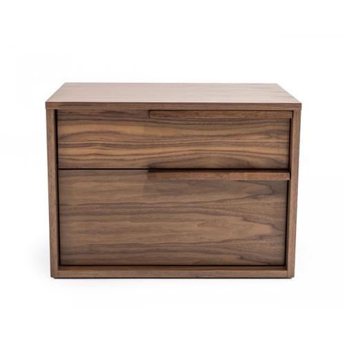 VIG Furniture - Modrest Amberlie - Modern Walnut Nightstand