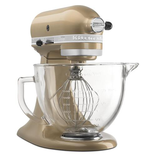 Artisan® Design Series 5 Quart Tilt-Head Stand Mixer with Glass Bowl Champagne