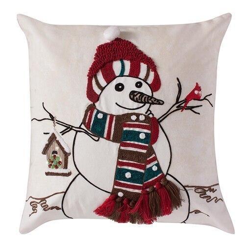 Jolly Snowman Pillow