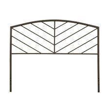 Essex Full Metal Headboard Without Frame, Metallic Brown