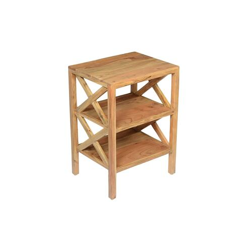 Dylan X Side Accent Table - Natural
