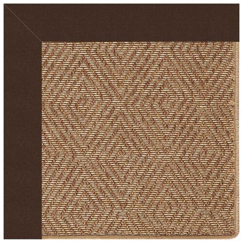 "Capel Rugs - Islamorada-Diamond Canvas Bay Brown - Rectangle - 24"" x 36"""