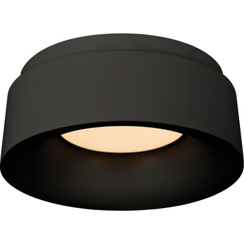 Barbara Barry Halo LED 6 inch Matte Black Flush Mount Ceiling Light, Petite