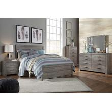 B070 7PC Set: Queen Panel Bed, Dresser, Mirror, Chest, Nightstand (Culverbach)