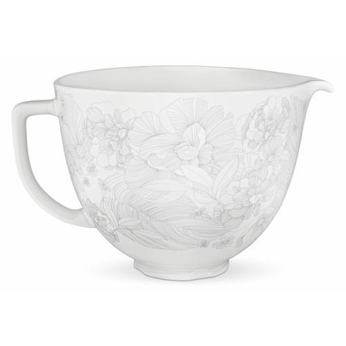 KitchenAid - 5 Quart Whispering Floral Ceramic Bowl