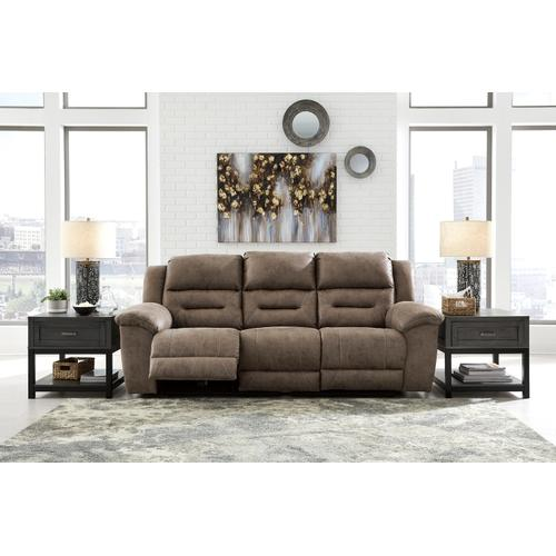 Stoneland Reclining Power Sofa & Console LoveseatFossil