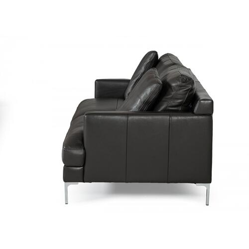 VIG Furniture - Divani Casa Janina - Modern Dark Grey Leather Sofa