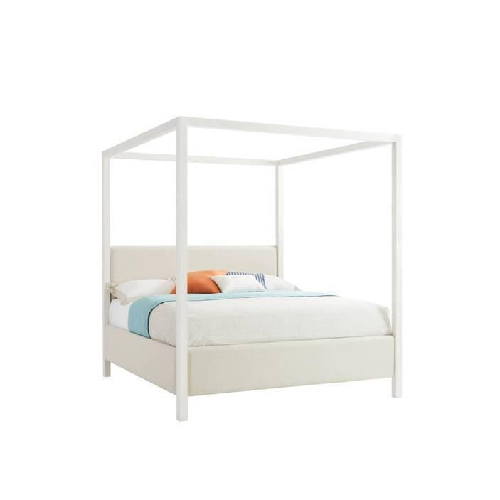 Panavista Archetype Canopy Bed - Alabaster / Queen