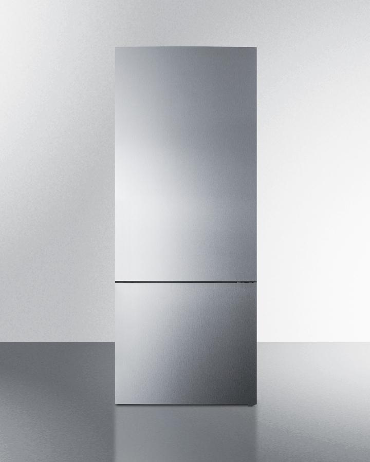 """Summit28"""" Wide Built-In Bottom Freezer Refrigerator"""