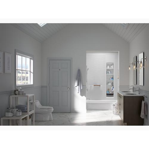 "Dune 60"" X 30"" Alcove Bath With Integral Apron and Left-hand Drain"