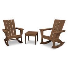 View Product - Quattro 3-Piece Rocking Chair Set in Teak