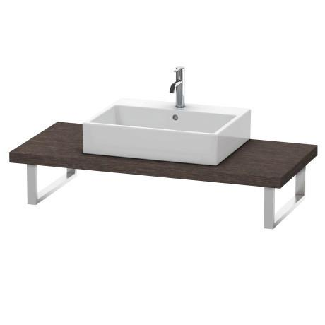 Product Image - Console For Above-counter Basin And Vanity Basin, Brushed Dark Oak (real Wood Veneer)