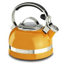 2.0-Quart Stove Top Kettle with Full Stainless Steel Handle Mandarin Orange