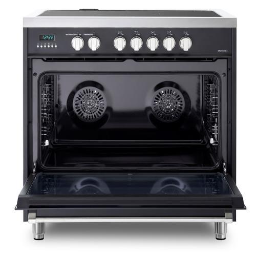 """Product Image - Matte Black 36"""" Designer Induction Range"""