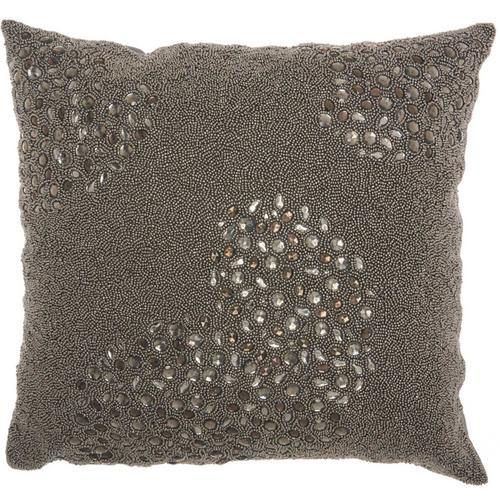 "Couture Luster E5500 Pewter 20"" X 20"" Throw Pillow"