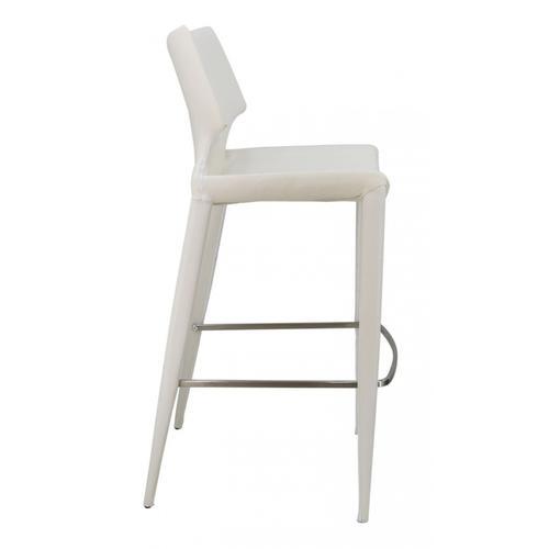 VIG Furniture - Modrest Hayes Modern White Eco-Leather Bar Stool (Set of 2)