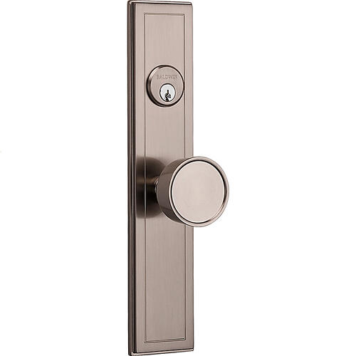 Satin Nickel Hollywood Hills Knob Entrance Trim