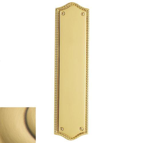 Baldwin - Satin Brass and Brown Bristol Push Plate