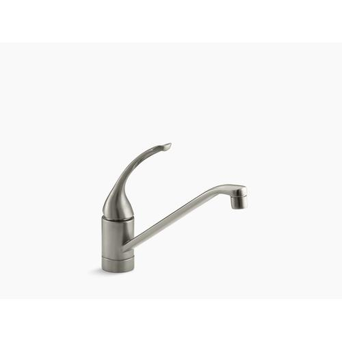"""Vibrant Brushed Nickel Single-hole Kitchen Sink Faucet With 10"""" Spout and Loop Handle"""