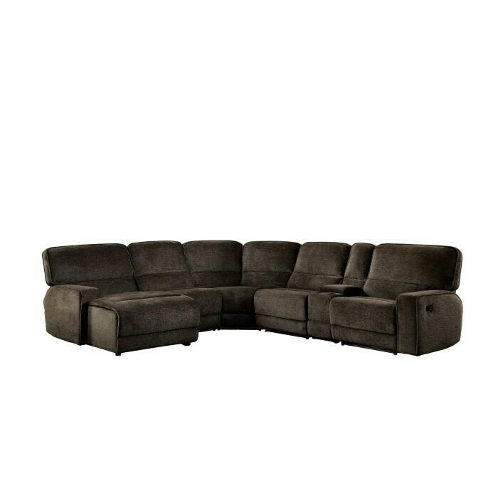 6-Piece Modular Reclining Sectional with Left Chaise