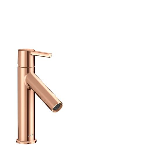Polished Red Gold Single lever basin mixer 100 with lever handle and waste set