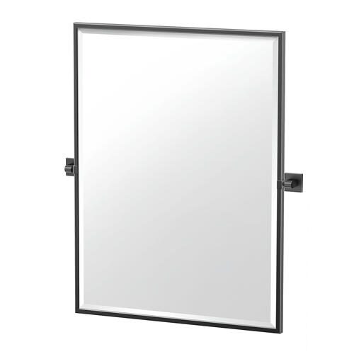 Mode Framed Rectangle Mirror in Matte Black