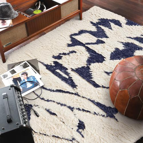 Nomad Ivory Navy Hand Knotted Rugs