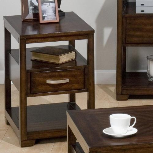 Chairside Table W/ Suspended Drawer and 2 Shelves