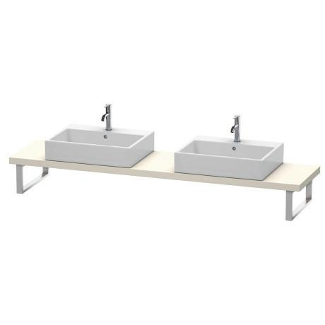 Console For Above-counter Basin And Vanity Basin Compact, Taupe Matte (decor)