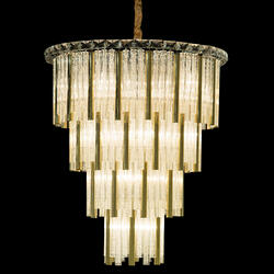 Chimes 18 Light Chandelier 2 PC Set Gold