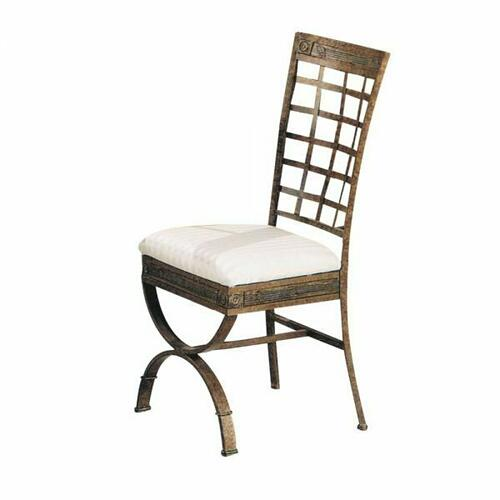ACME Egyptian Side Chair (Set-4) - 08631 - Fabric & Bronze Patina