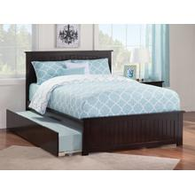 Nantucket Full Bed with Matching Foot Board with Urban Trundle Bed in Espresso