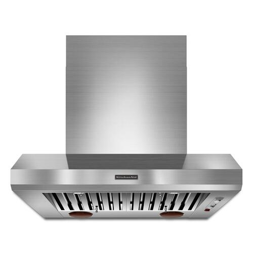 KitchenAid KXW9736YSS   36'' Wall-Mount 600-1200 CFM Canopy Hood, Commercial-Style Stainless Steel