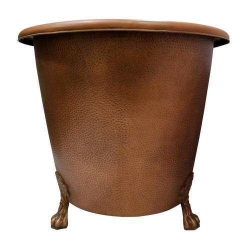 "Panya 68"" Roll Top Copper Tub"