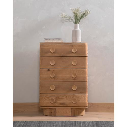 Mallory 5 Drawer Dresser-light Oak